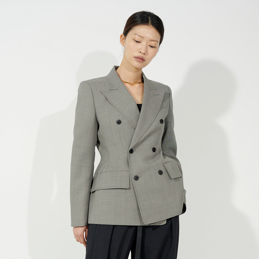 Structural light wool Jacket