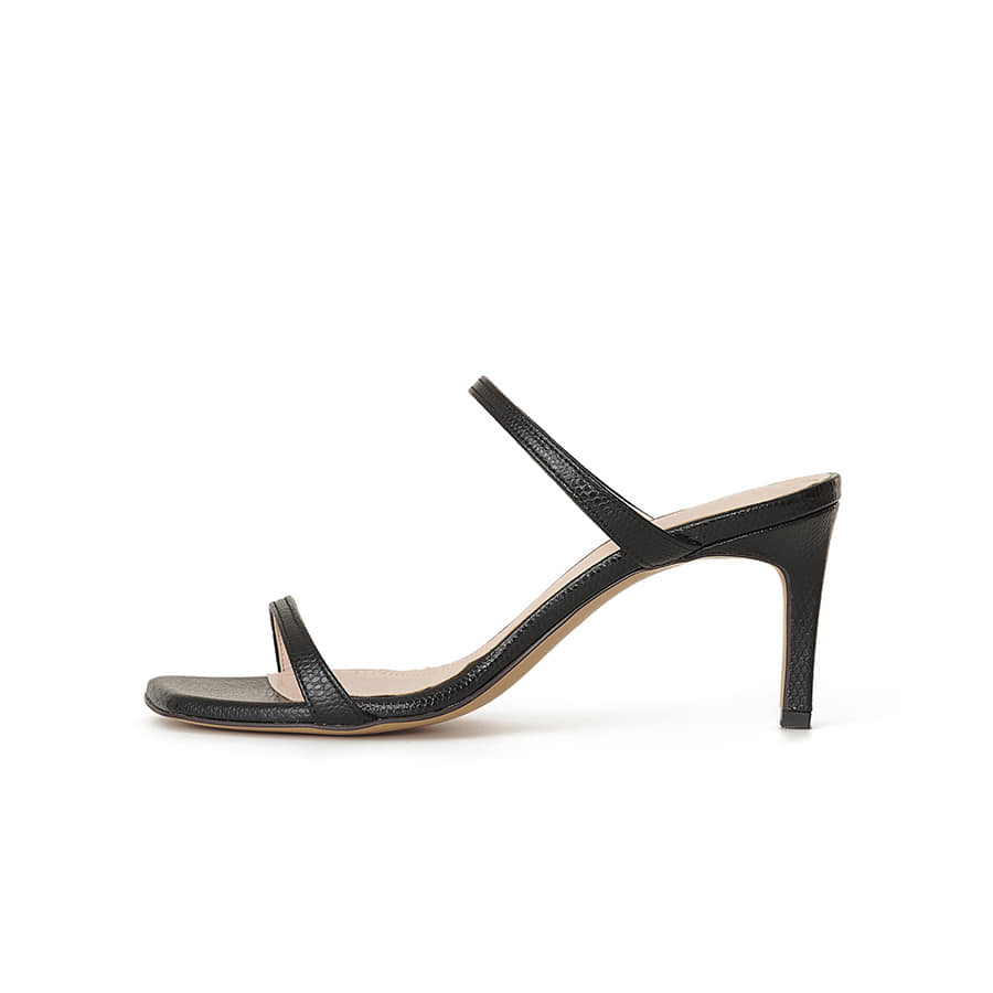Naked Square-Toe Sandals